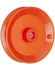Ajax Scientific Plastic Loose Pulley, 25mm Diameter, 4mm Center Hole Diameter (Pack of 10)