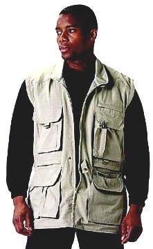 Safari Outback Jacket, Khaki, XL