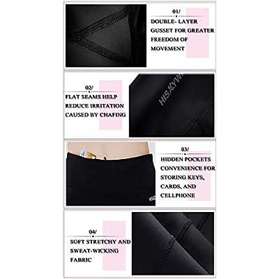 HISKYWIN Inner Pocket Yoga Pants 4 Way Stretch Tummy Control Workout Running Pants, Long Bootleg Flare Pants: Clothing