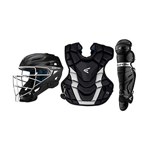 EASTON GAMETIME Catchers Equipment Box Set | Youth | Black / Silver | 2020 | Black Helmet Small | 15