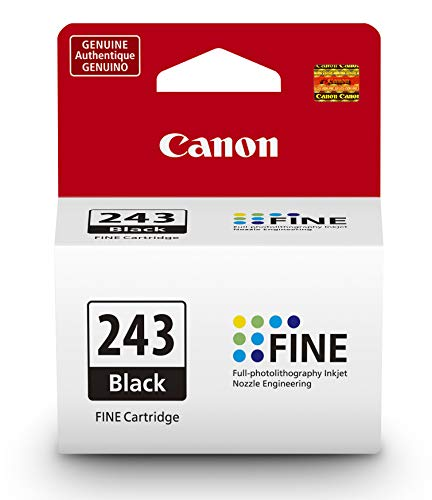 Canon PG-243 Black Ink Cartridge Compatible to iP2820 MX492, MG2420, MG2520, MG2920, MG2922, MG2924 MG3020, MG2525, TS3120, TS302, TS202 and TR4520 Canon Fax Inkjet Cartridges