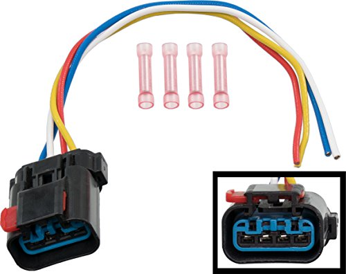 APDTY 013414-Harness 4-Wire Pigtail For Radiator Fan Control Relay (Note: If Melting Occurred, Radiator Fan, Relay & Harness Replacement Is Usually Also Neccesary, Replaces OE 4897034AA, (Jeep Radiator Fan Relay)