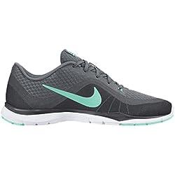 Womens Nike Flex Trainer 6 Training Shoes Cool Grey/Hyper Turquoise/Dark Grey 7.5