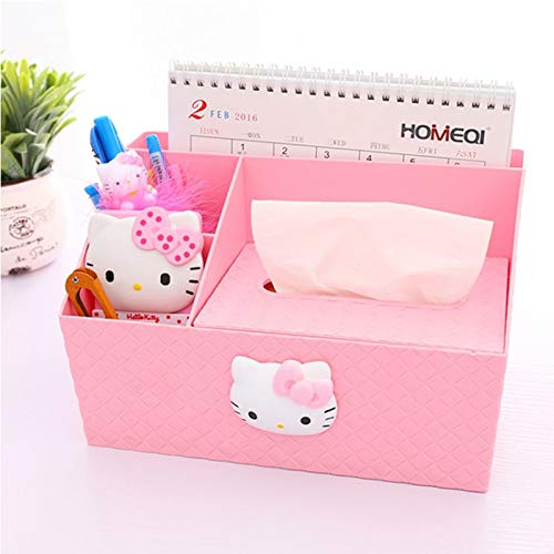 (Viet-GT Tissue Boxes - Kitty Storage Tissue Box Desktop Multifunctional Cover Accessories Home Storage Organization Makeup Organizer 1 PCs)