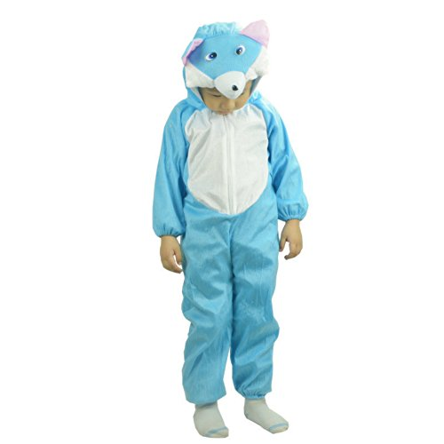 Blue Cat Costumes (Kids Costumes for Boys Girls Cartoon Animal Cosplay Clothes (M( Height 35.4