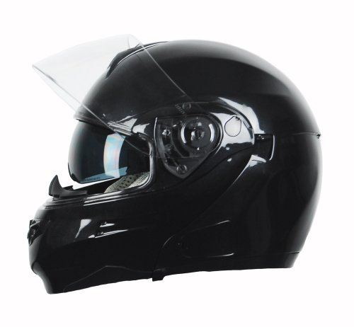 Vega Summit 3.0 Full Face Modular Helmet (Metallic Black, XX-Small)