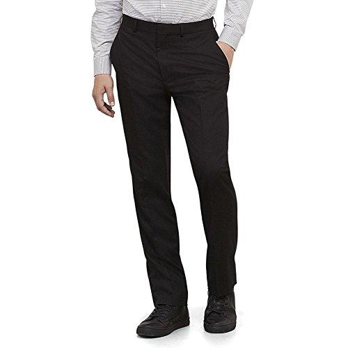Kenneth Cole REACTION Men's Black Solid Suit Separate Pant, Black, 36x30 by Kenneth Cole REACTION