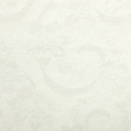 Embossed Foam Backed Table Padding Vinyl Flourish Off White Fabric By The Yard