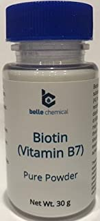 product image for Pure Biotin (Vitamin B7) Pure Powder 30 Grams - Hair, Nails, Metabolism, Cell Growth