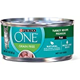 Purina ONE Grain Free Premium Pate Classic Turkey Recipe Wet Cat Food - (24) 3 oz. Cans