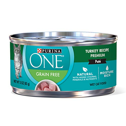 Purina ONE Grain Free Premium Pate Classic Turkey Recipe Wet Cat Food - (24) 3 oz. Cans