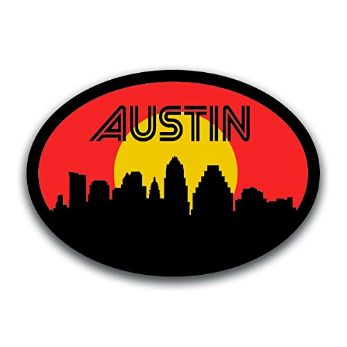 (Austin Texas Skyline Vinyl Decal Sticker | Cars Trucks Vans SUVs Windows Walls Cups Laptops | Full Color Printed | 5.5 Inch |)