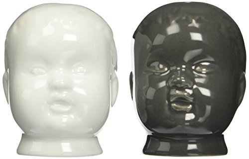 Accoutrements Creepy Doll Head Salt and Pepper Shakers (Salt Shakers Head Pepper)