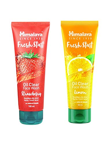 Himalaya Fresh Start Oil Clear Face Wash, Lemon and Strawberry, 100ml  Combo    Pack of 1