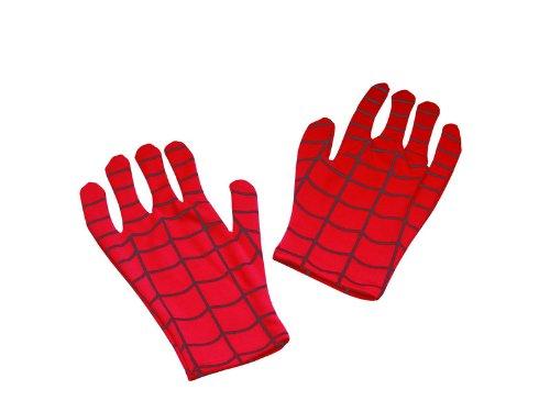 Disguise Men's Marvel Spider-Man Adult Gloves, Red/Black, One Size