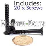 (20) M4-0.70 x 30mm (PT) - Flat Head Socket Caps