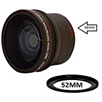 0.17X Ultra-Wide Fisheye Converter Lens w/ Macro Close-Up Attachment For Canon, Carl Zeiss, Fujifilm, Nikon, Panasonic, Pentax, Olympus, Samsung, Sigma, Sony, Tamron, Tokina Lens