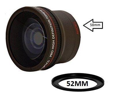 0.17X Ultra-Wide Fisheye Converter Lens w/ Macro Attachment For D3100c D3200c D3300c D5000c D5100c D5200c D5300c D5500c D7000c D7100c D7200c D90c D300c D500c D600c D610c D700c D750c D800c D810 DSLR