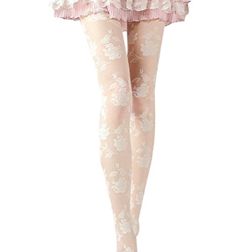 Wintialy Women Rose Sexy Long Socks Pantyhose Socking Tights