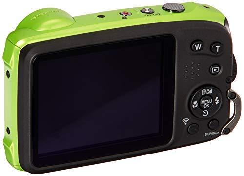 Fujifilm 600019756 FinePix XP120 Shock & Waterproof Wi-Fi Digital Camera, Black/Lime Green by Fujifilm