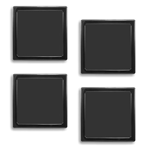DEMCiflex Computer Dust Filter, Standard 140mm Square, Black Frame, Black Mesh, 4-pack
