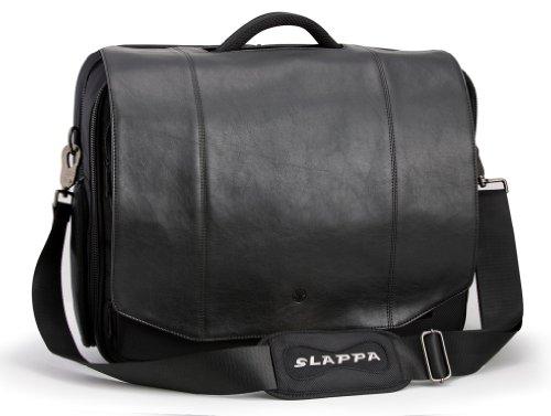 Slappa Kiken 16-Inch Black Leather Flap Custom Build Lapt...