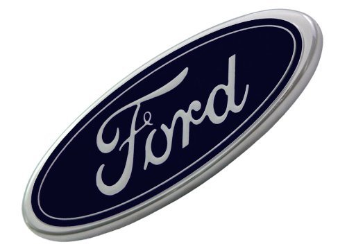 Ford F81Z-8213-AB Front Grille Emblem 7 inches by 2 3/4 inches (Grills For Ford Escape compare prices)