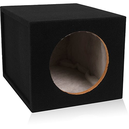 Belva 10-inch Car Subwoofer Box Sealed 3/4-inch MDF Prelined Polyfil [MDFS1012] ()