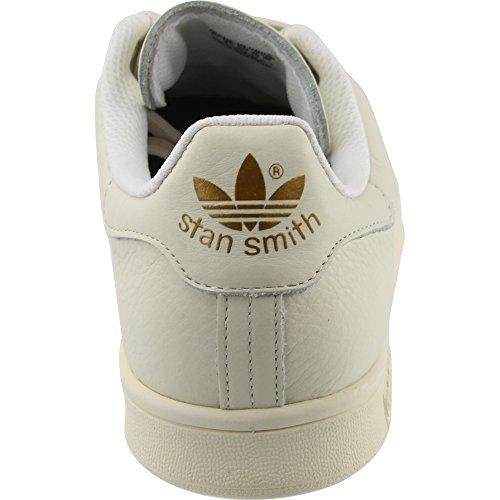 Adidas Stan Smith Mens Casual Sneakers Bianco Sporco / Bianco Sporco / Oro Metallizzato