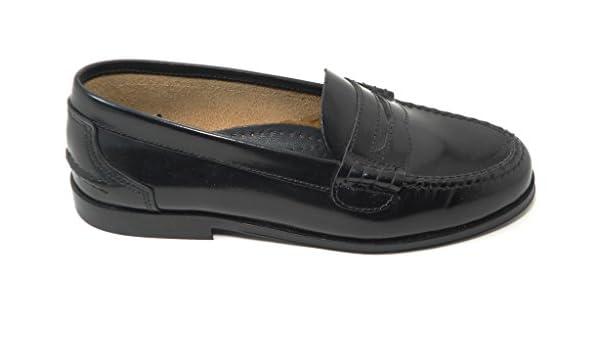 Zapato Castellano COLEGIAL O COMUNION Negro YOWAS 5081 (38): Amazon.es: Zapatos y complementos