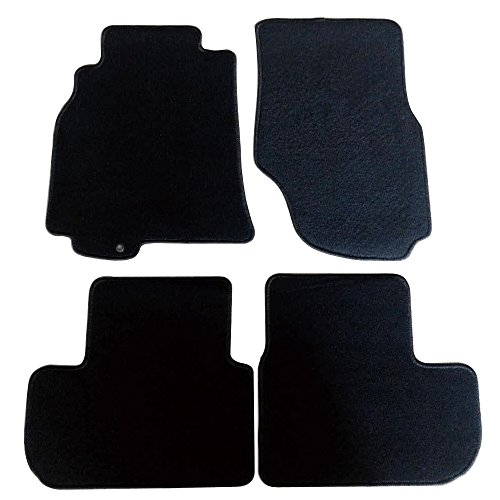 Floor Mats Fits 2003-2007 INFINITI G35 2 DOOR | Nylon BlackFront Rear Carpet by IKON MOTORSPORTS | 2004 2005 2006