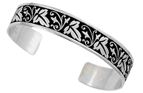 Ed Levin, Summer Shade Cuff Bracelet, .925 Sterling Silver (Discontinued) by Ed Levin Jewelry