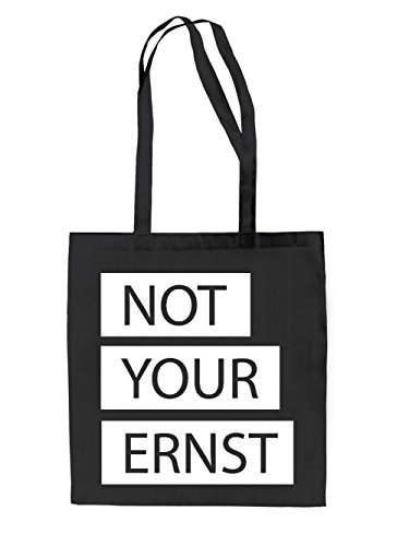 Not your ernst Jutebeutel Black