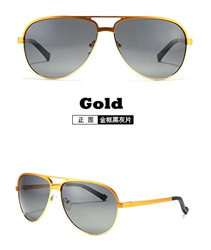 Oro aluminio masculinas redondas gafas de magnesio de polarizadas Los estilo accesorios Coche moda de gafas aleación de gafas plata de TIANLIANG04 piloto de sol hombres SqtRywHB