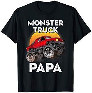 ⭐️⭐️⭐️ Papa Monster Trucks Rule  Gift For Men Women Kids Need Funny Short/Long Sleeve Shirt/Hoodie