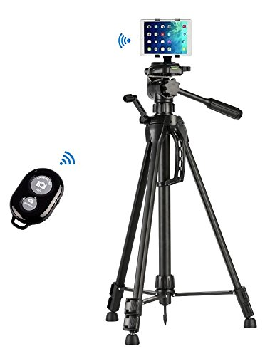 "60"" inch Camera Tripod+Tablet Mount Holder+Bluetooth Remote"