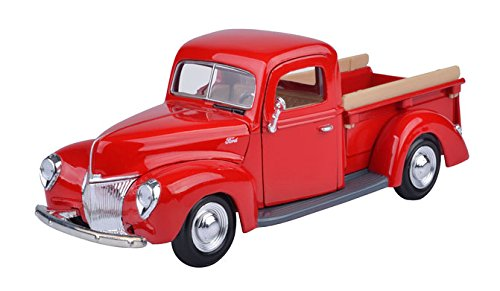 1940 Ford Pick-up Truck, Red - Showcasts 73234 - 1/24 Scale Diecast Model Toy Car - Truck 1940 Ford