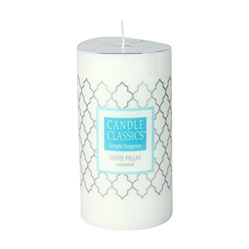Pillar Candle (3 x 5.5, White (4 (Large Unity Candle Stand)