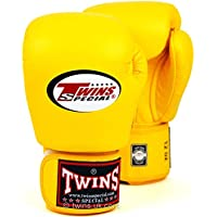 Twins Special Yellow Muay Thai Boxing Gloves BGVL-3 10-12-14-16 oz.