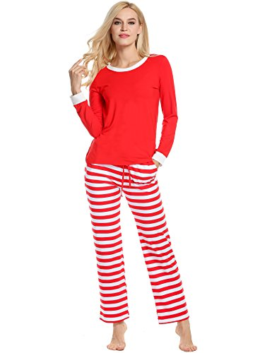 930f4b24a1 Avidlove Women Men Christmas Winter Pajamas Long Sleeve and Stripe Bottoms Cotton  PJ Set - Buy Online in UAE.
