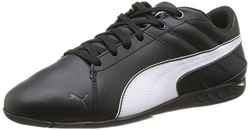 Puma Racing Cat 1.1 Venture - zapatilla deportiva de cuero hombre negro - Schwarz (black-white-dark shadow 01)