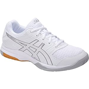 ASICS Women's Gel-Rocket 8 Volleyball-Shoes, White/Silver/White, 11.5 Medium US
