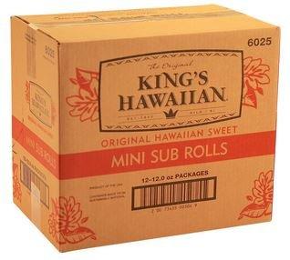 King's Hawaiian, Original Mini Sub rolls (6 pack), (12 packs per case)