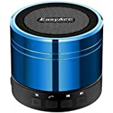 EasyAcc Mini Portable Bluetooth 4.0 Speaker with Mic, 3.5mm Aux, FM Function, Micro SD Card Support - Blue