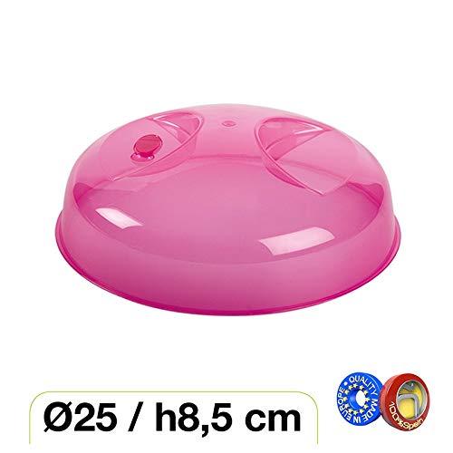 Haltra Tapa con válvula para microondas (25 x 8,5 cm) Fucsia ...