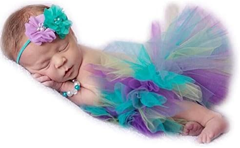 Newborn Costume Rainbow Headband Photography