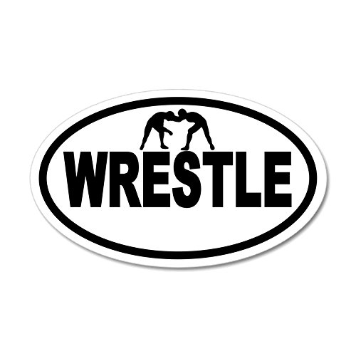 CafePress - Wrestling Wrestlers 20X12 Oval Wall Peel - 20x12 Oval Wall Decal, Vinyl Wall Peel, Reusable Wall Cling