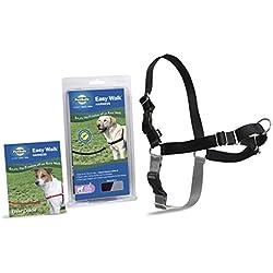 PetSafe Easy Walk Harness, Medium/Large, BLACK/SILVER for Dogs