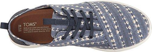 Navy Batik - TOMS Men's Del Rey Sneaker Navy Batik Stripe 10 D US