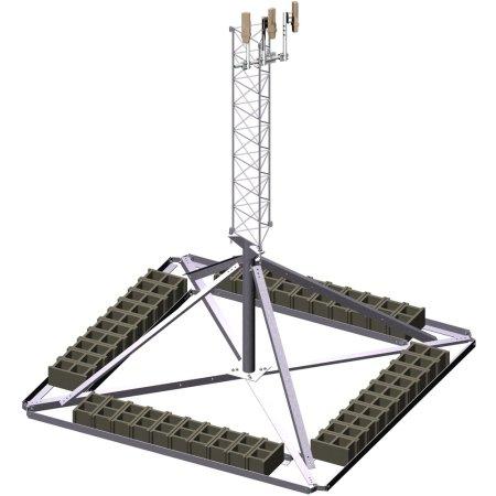 STG Towers Non-penetrating Ballast Roof Mount SOI 4.618.5102.001 Trylon